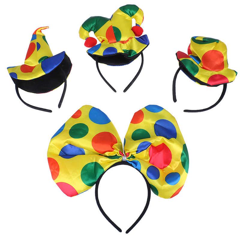 Клоун повязка клоунская шляпа повязка для волос бант галстук Для мужчин Для женщин для мальчиков и девочек, для выступлений на сцене Реквизит вечерние пользу карнавальный костюм на Хэллоуин