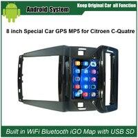 8inch Capacitance Touch Screen Car GPS Navigation For Citroen C Quatre Wifi Mirrorlink Bluetooth 16G USB