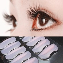 5 Pairs With Different Sizes Silicone Eyelash Perming Curler Curling False Fake Eye Lashes Shield Pad