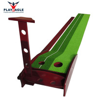 30CMX300CM Solid Wood Indoor Golf Putting Trainer Professional Practice Set Training Mat Mini Golf Putting Green With Fairway