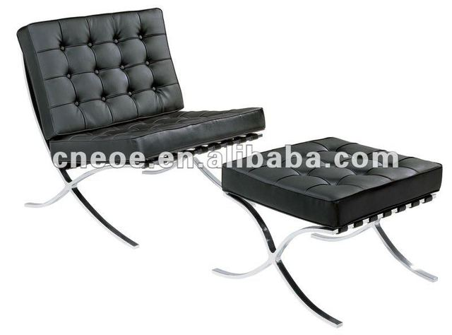 Leather Relax Chair Barcelona Sofa Footrest With