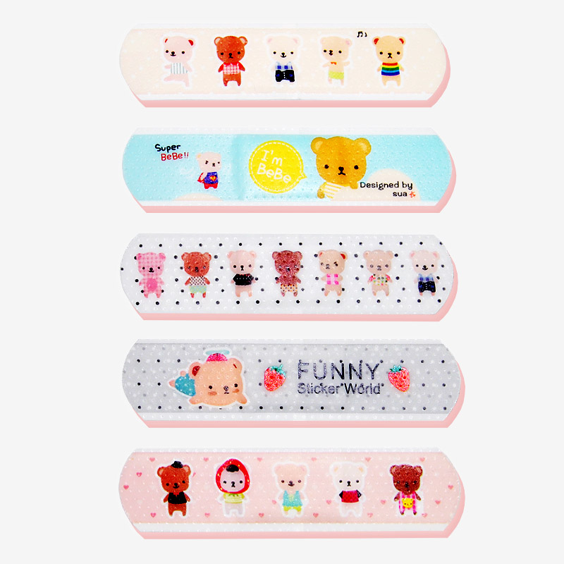 15 Pcs/box Cartoon Cute Band Aid Breathable Hemostasis Adhesive Bandages First Aid supplies Funny Kids Children Lovely Band aid 100pcs waterproof breathable cute cartoon band aid hemostasis adhesive bandages first aid emergency kit for kids children