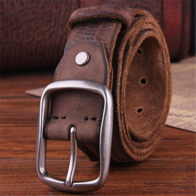 Hombres cinturón de cuero de Vaca Genuino de Cuero marca Correa masculina hebilla de fantasía vintage jeans correa cintos masculinos Diseñadores de alta calidad 3.8 CM