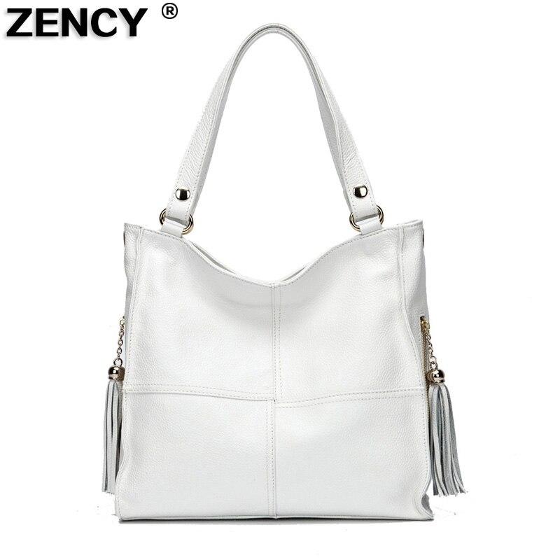 100% Kulit Tulen Lembut Cowhide Wanita Bahu Beg Tassels Wanita Handbags Kulit Asli Ladies Messenger Bag Satchel Purse