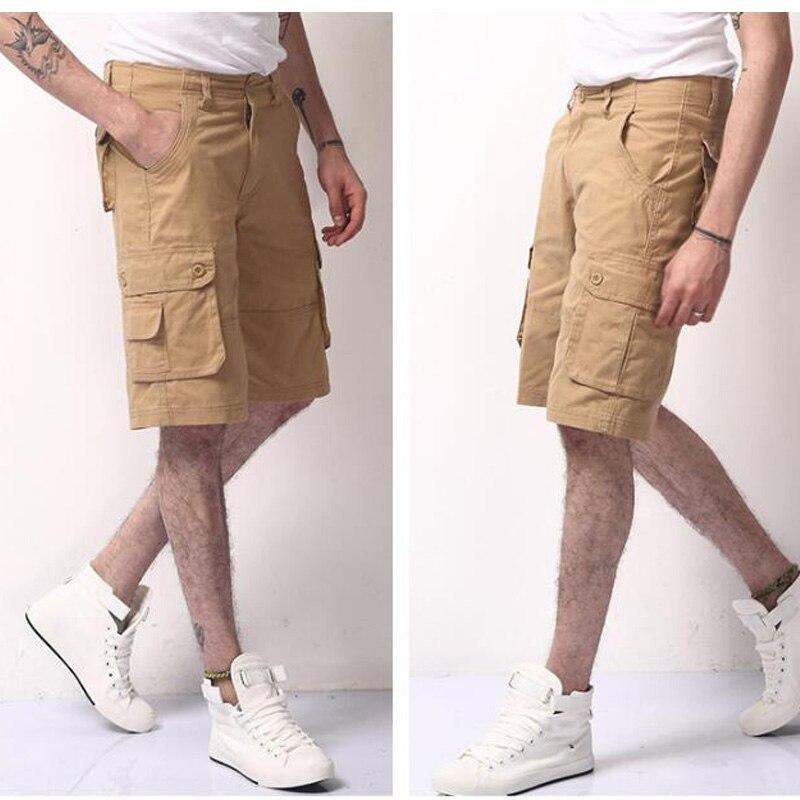 100% Wahr 2018 Hohe Qualität Männer Camouflage Cargo Bermuda Casual Cargo-shorts Multi Taschen Taktische Militärische Shorts Für Männer Jogger 29-46 Ruf Zuerst