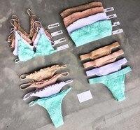 Neue frauen bikinis 12 farbe badeanzug push up biquini hohe qualität bathingsuit feste bandage bademode brasilianischen sexy bathingsuit
