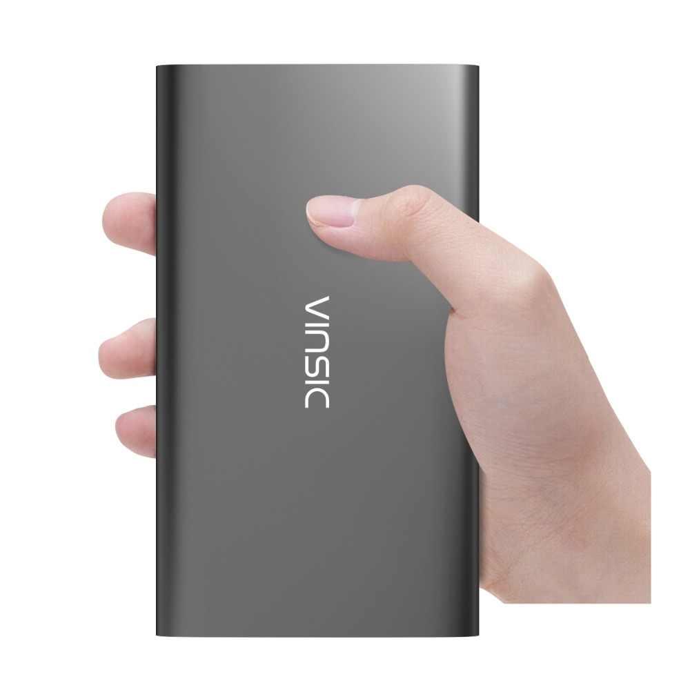 Oryginalny Vinsic obcych 12000 mAh aliexpress #1 sprzedaży ładowania marka banku mocy podwójny 2.4A zewnętrzna ładowarka do baterii USB uniwersalny