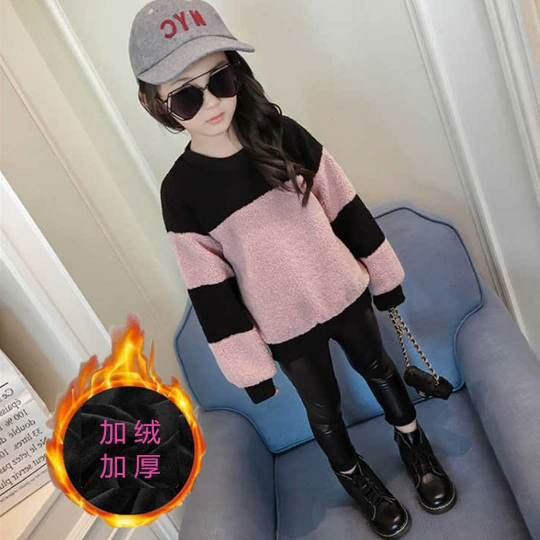 Long Sleeve Clothes Baby Girls Sweaters Winter 2017 New Girl Knitted Clothes Kids Autumn solid color Sweater For Girls pink solid color off shoulder crop bodycon sweaters vests