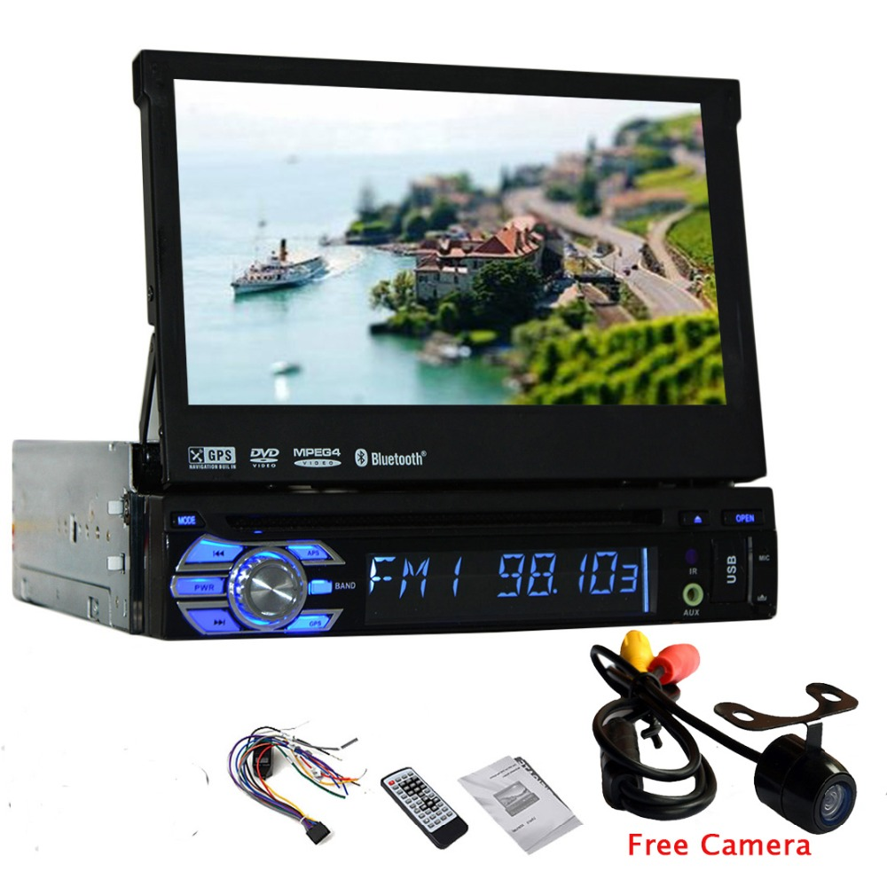 1din car autoradio dvd player amp radio gps car dvd camera music eq in deck headunit cd sub 1. Black Bedroom Furniture Sets. Home Design Ideas