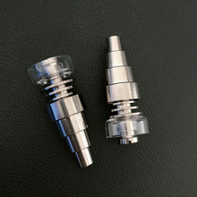 10PCS Hot Quality Titanium Nail 6 IN 1 fit 16 mm coil  For Glass bong water pipe glass pipes Universal and Convenient
