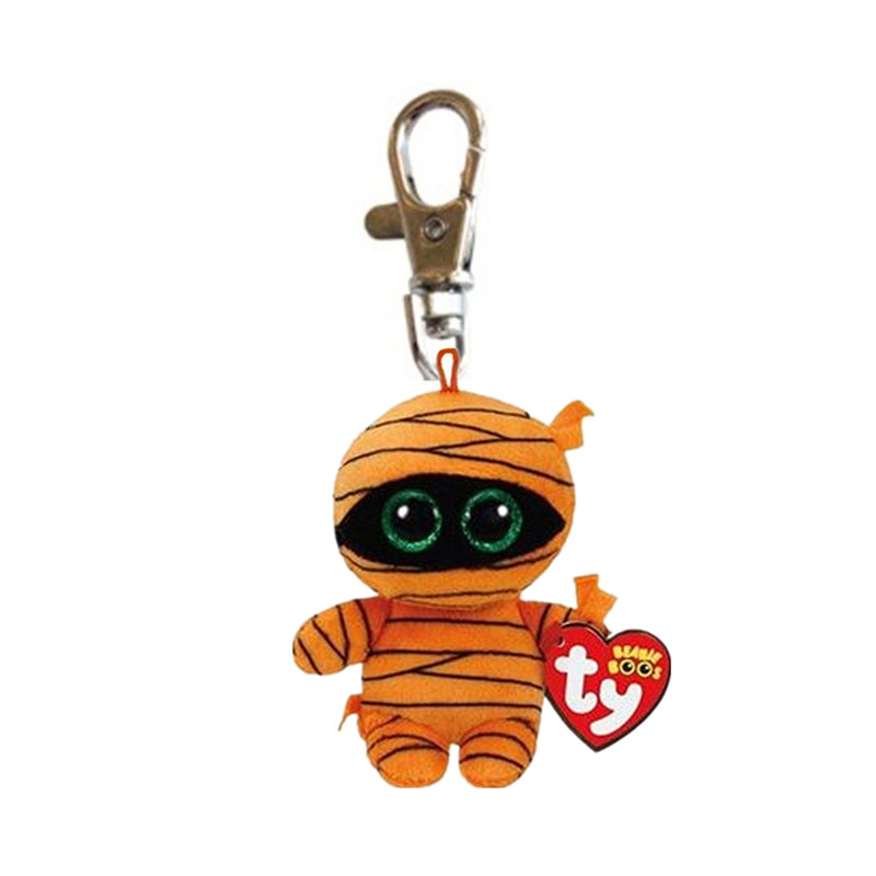 Ty Beanie Боос маска клип 3 дюймов оранжевый Мумия Хэллоуин животных кукла baby брелок Игрушечные лошадки для детей