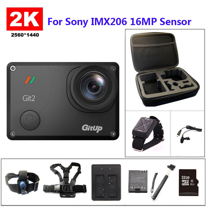 GitUP Git2 Wifi 2K Sports DV PRO Full HD 1080P 30m Waterproof mini Camcorder 1.5 inch Novatek 96660 Action Camera