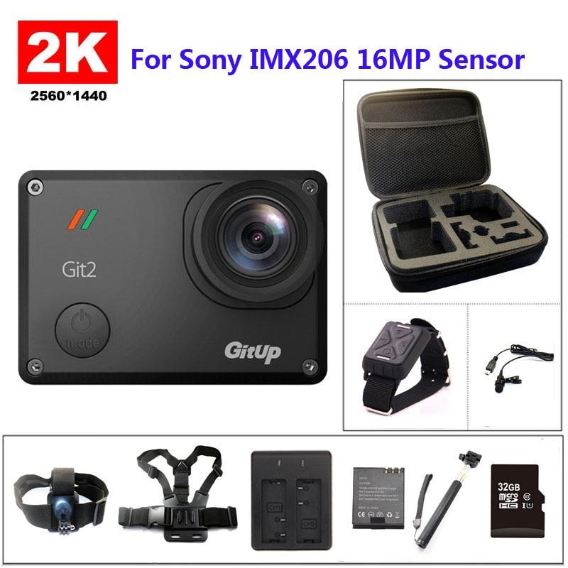 Gitup Git2 WiFi 2 K deportes DV pro Full HD 1080 p 30 m impermeable mini videocámara de 1.5 pulgadas Novatek 96660 Cámara de Acción