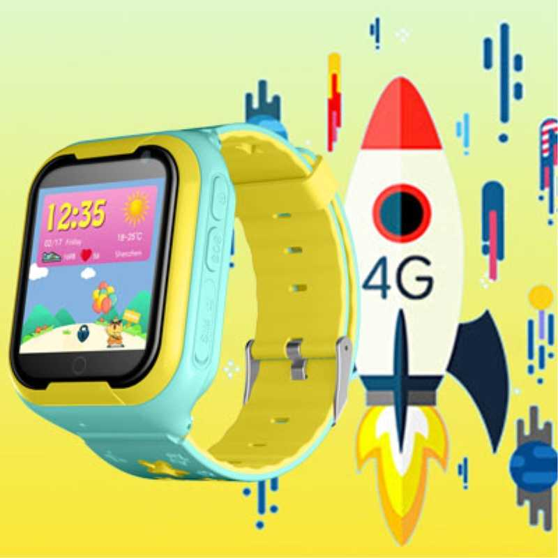 "Kids Tracker watch 4G location SOS call Android 4.2 Pedometer Camera 1.4""HD Children watches clock M05"
