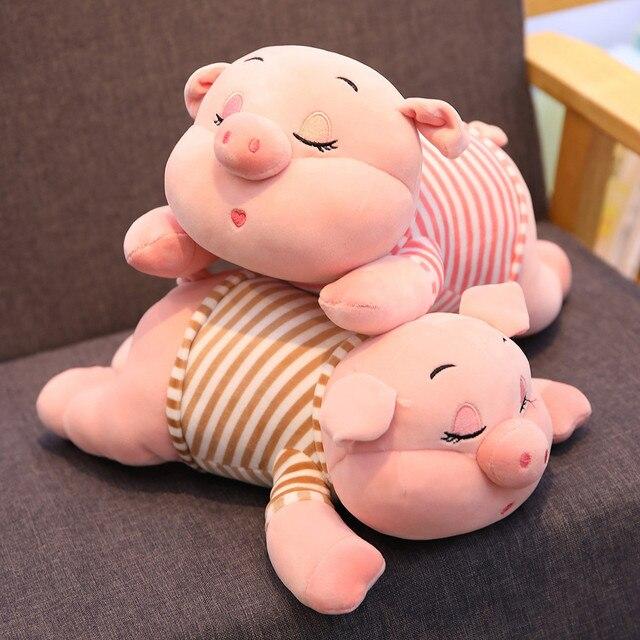 40/55/70 centímetros Bonito Porco Cor de Rosa de Pelúcia Brinquedos para As Crianças de Gordura de Porco Porco Zodíaco Chinês Boneca Macia almofada travesseiro Presentes do Aniversário Dos Miúdos Meninas