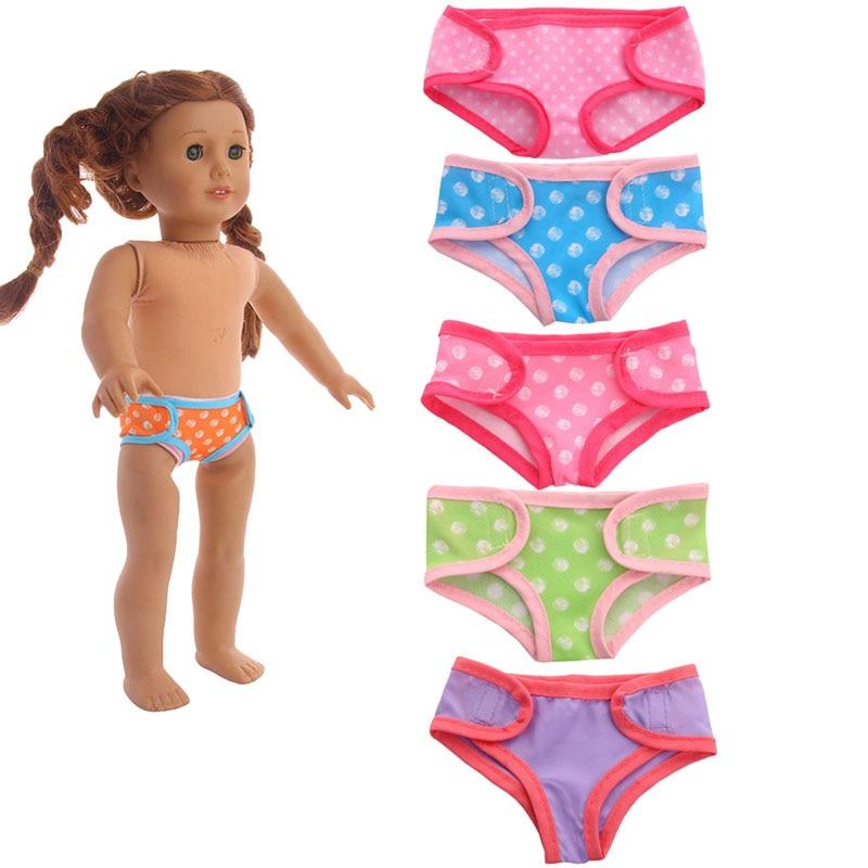 2018 новые трусики, 6 видов стилей, подходит для 18 дюймов American Girl Куклы чтобы дать детям самый лучший кукла аксессуары
