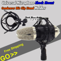 Universal Black Studio Recording Microphone Shock Mount Holder Condenser Mic Clamp Clip Stand Shockmount Mike Suspension Spider