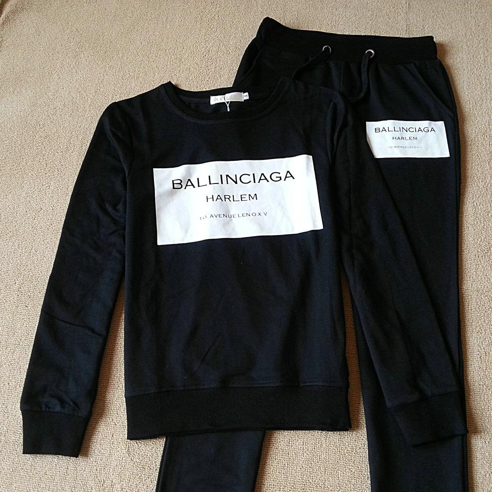 2 Pieces Set Women Tracksuit Plaid Sweatshirt + Pants Trousers Casual Clothing Sets Wear Suit Sweat High Quality