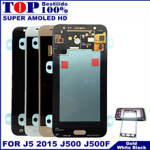 20 Pin J500 LCD untuk Samsung Galaxy J5 2015 J500 J500F J500FN J500H LCD Super AMOLED Display Touch Screen Digitizer perakitan(China)