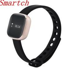 Smartch 2017, Новая мода Bluetooth Smart Браслет для Для женщин IP67 Водонепроницаемый Фитнес трекер Мониторы шагомер будильник wristb