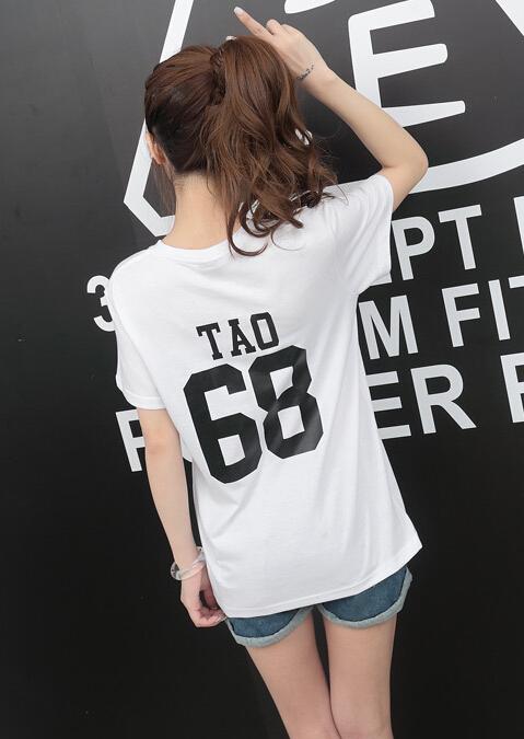 HTB1xvU KVXXXXaAXXXXq6xXFXXXS - Summer Exo Letter Print O-neck Short Sleeve O-neck tshirt