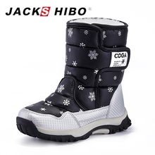 JACKSHIBO Children Snow Boots Winter for Boy Shoes Water-Proof Anti-skid Boot
