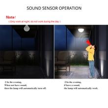 Auto Turn ON/OFF Night Lights Body Motion Sound Sensor LED Bulbs 3W 5W 7W 9W 12W Voice Control LED Lamp for Porch Hallway