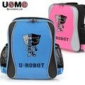 UNME2016 новых студентов школьный для детей рюкзак сумка Ортопедические спинного для студенток прекрасный ангел робот