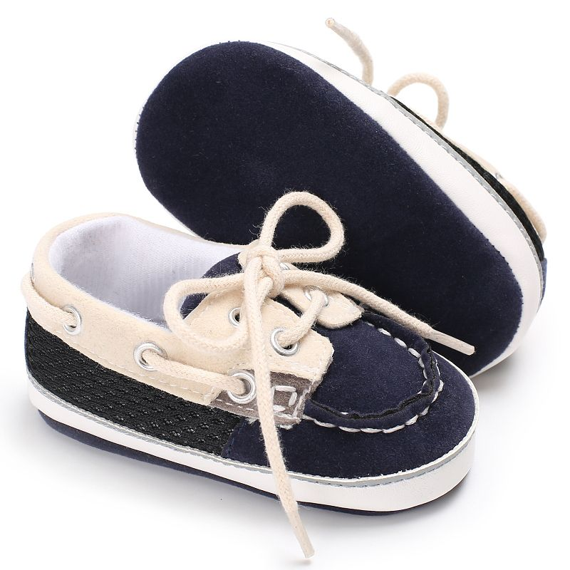Hot Sales Baby Sneaker Canvas Shoes Infant Sneaker Baby Boy Toddler Walkers Stitching Straps Soft Bottom Anti-slip Casual Shoes