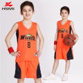 High Quality Children Basketball Clothes Set Boy Sportwear Custom LOGO Team Training Basketball Suit Jersey With Short Breathble