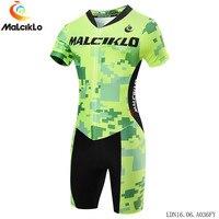 Malciklo Men Triathlon Cycling Jersey Quick dry Breathable Skinsuit MTB Bike Ropa De Ciclismo Maillot clothes suit