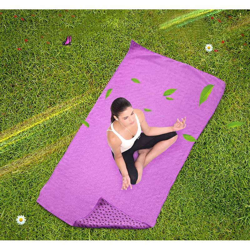 Yoga Mat Towel Sports Direct: 183*61 Cm Yoga Mats Superfine Fiber Blanket Plum Granule