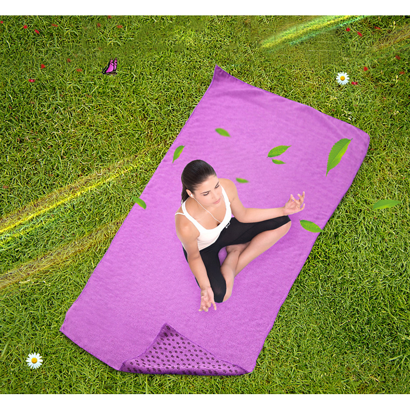183*61 cm Yoga Mats Superfine Fiber Blanket Plum Granule Yoga Mat Pilates Sports Training Towel Fitness Towels For Yoga