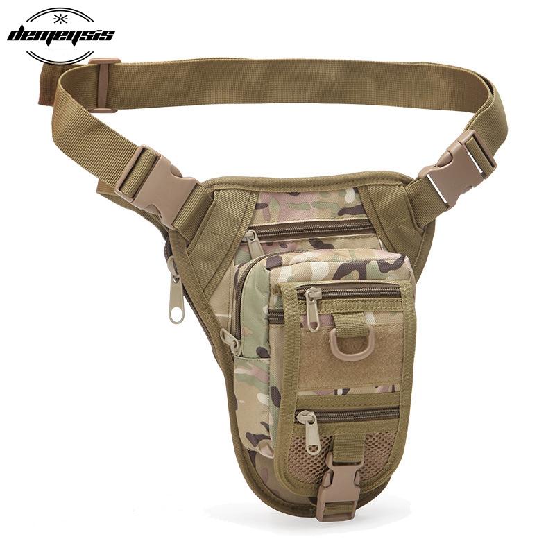 Outdoor Multifunctional Hiking Hunting Waist Bag Military Tactical Drop Leg Bag Hunting Tool Waist Pack Motorcycle Sports Bag