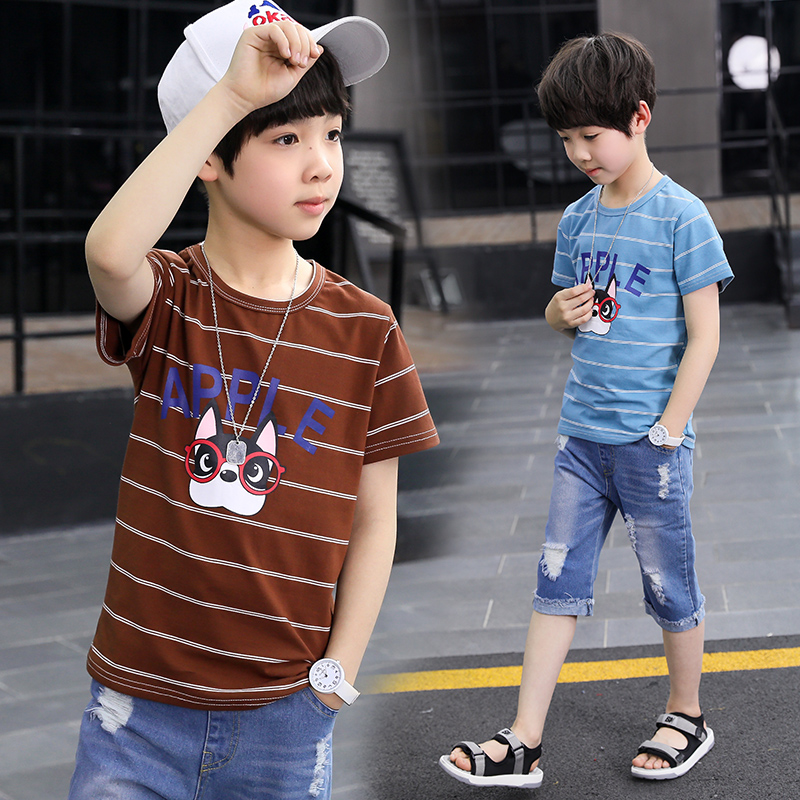 Sport Suits Teenage Summer Boys Clothing Sets Short Sleeve T Shirt Pants Casual 3 4 5 6 7 8 9 10 Years Child Boy Clothes in Clothing Sets from Mother Kids