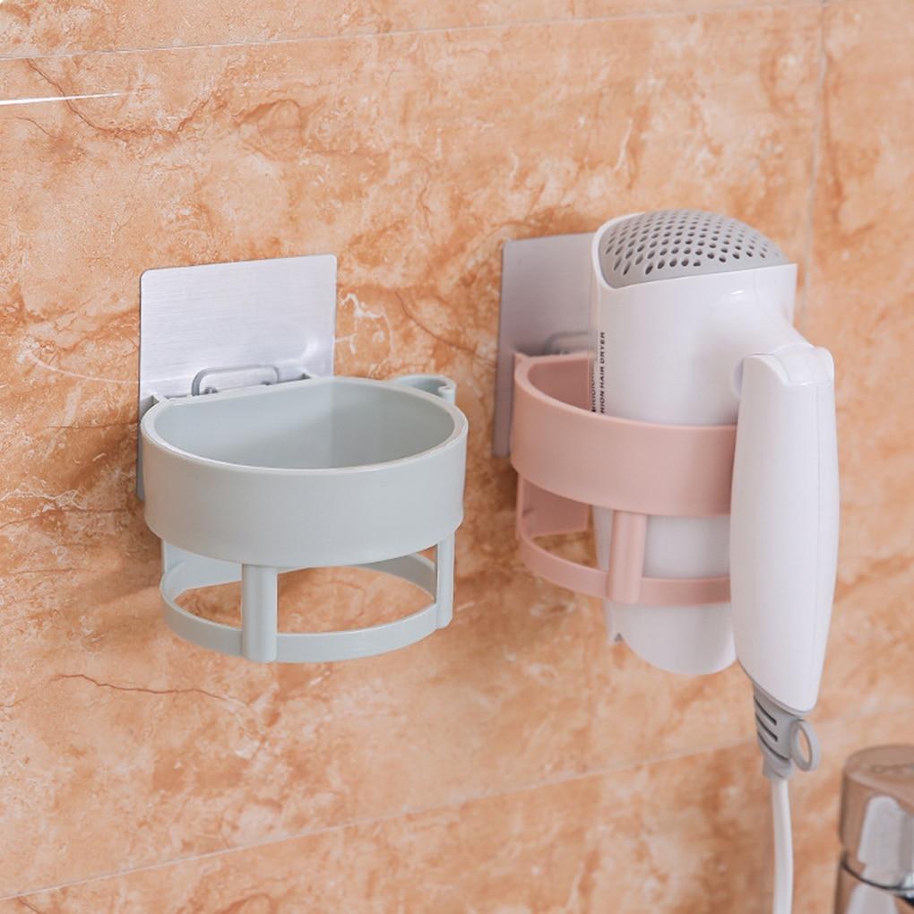 Hair Dryer Holder Bathroom ABS Wall Stand Sturdy Adhesive Mount Stand Washroom Storage Rack
