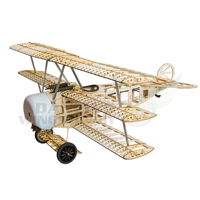 Classic RC Plane Fokker DR1 Balsa Wood Airplane Model 0.8M Wingspan 4CH Electric Powered Remote Control Airplanes Building Kits