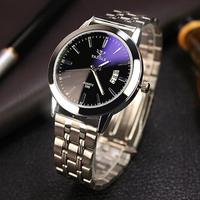 Watches For Men Gift New 2016 Famous Brand Mens Waterproof Date Noctilucent Stainless Steel Glass Quartz