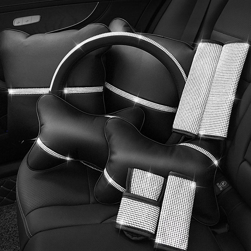 Fashion Full Diamond Crystal Auto Handbrake Cover Car Gear Shift Cover Shifter Gear Knob Cover Styling Decoration Accessories