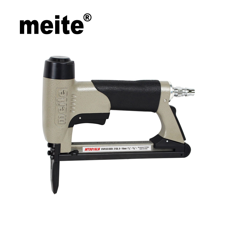 Meite MT8016LN 21GA crown 12.8mm fine wire tool air stapler staples 80 staples series by leg length 6-16mm Sep.9 Update tool free shipping deli 0451 candy color stitching machine set mini stapler belt clip staples attached manual mini stapler