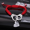 2016 Hot sale New love bracelets i love you pulseras silver -plated heart Woven bracelet pulseras mujer Valentine's Day present