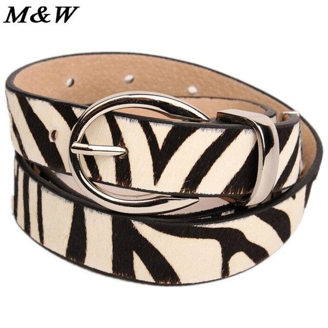 2017 European And American Decorative Horsehair Thin Luxury Belt Woman Zebra Pattern Cowhide Ceinture Femme Wholesale