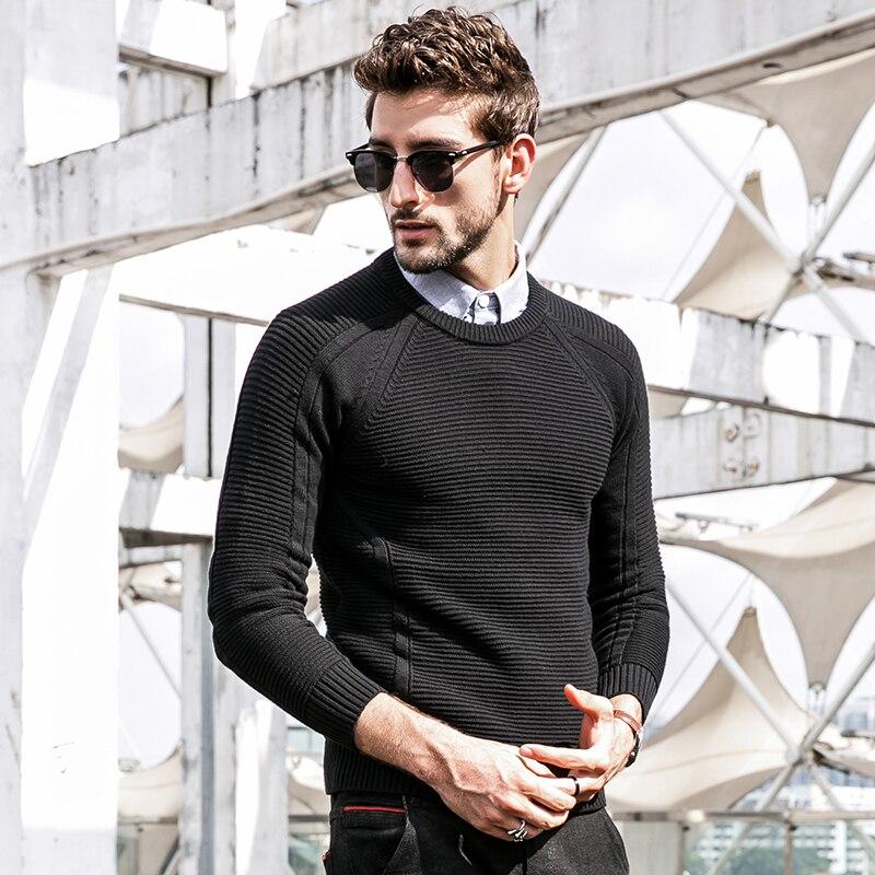 manga GustOmerD hombres punto de Otoño Invierno larga de suéter PwBqpvPT