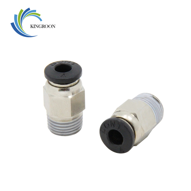 Pneumatic Connectors PC4-01 Remote For V6 V5 J-head Bowden 1.75mm PTFE Tube 3D Printer Parts Quick Coupler Fittings Hotend Part