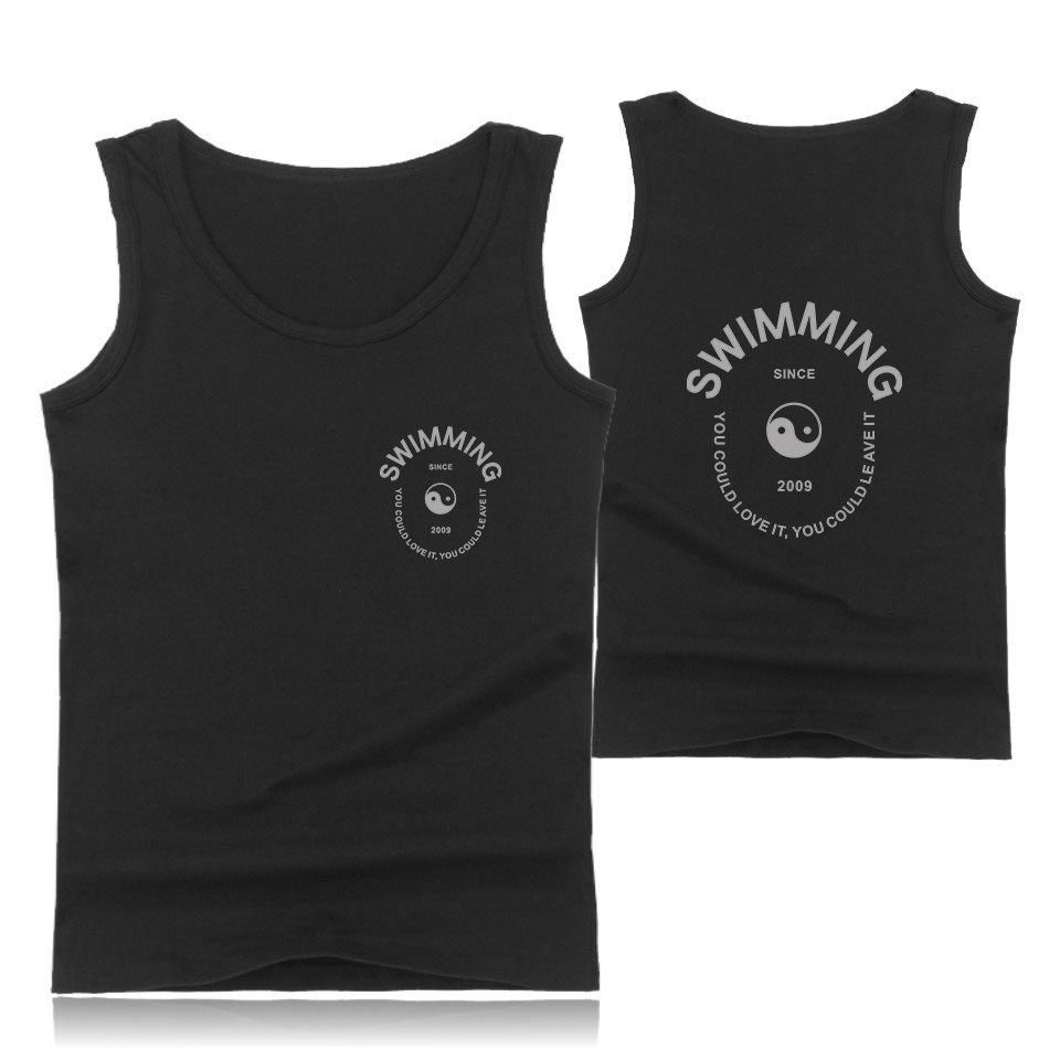 New 2018 Swimming   Tank     Top   men Cotton Workout Fashion Fans Cool Casual Cool Sleeveless Vest summer clothes