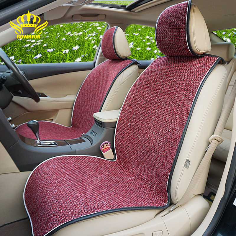 2pcs Car Seat Covers For Front Seat Protector Universal Fit All Car Seat Cushion Flax Fabrics