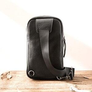 Image 4 - AETOO sacs à bandoulière en cuir véritable pour hommes, sacoche décontracté, petite marque, sac à épaule de styliste masculin, sac de poitrine