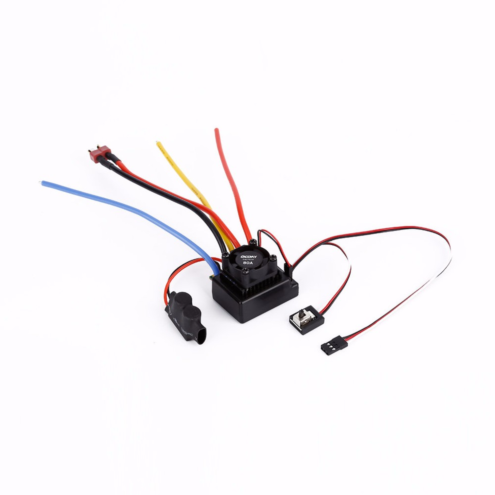 1:10 80A Sensored/Sensorless Brushless Motor Speed Controller For Car Truck Brushless ESC RC Helicopter High Quality RC Part set 80a brushless electric motor speed controller for r c helicopter boat car