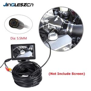 Image 1 - JINGLESZCN AV kamera endoskopowa 5.5mm obiektyw 1 m/5 m/10 m/15 m/20 m długość 12V Mini NTSC wodoodporny boroskop inspekcyjny Cam wąż rury