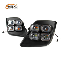 OKEEN Car Styling For Toyota Hilux Revo Vigo 2015 2017 LED DRL Front Fog Lamp Cover